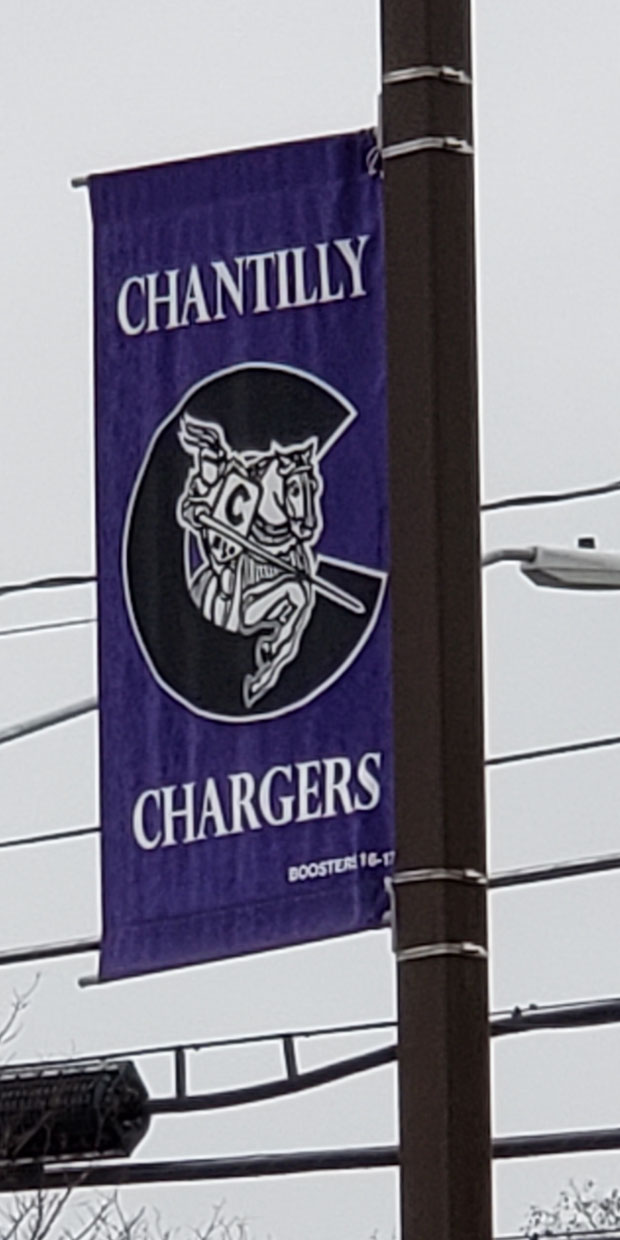 Chantilly Chargers Banner