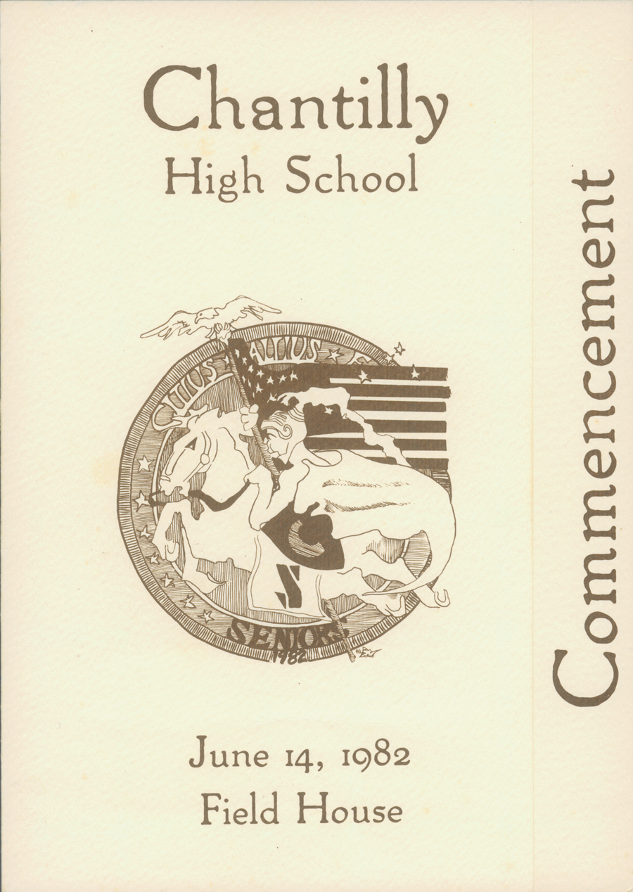 Chantilly High School Graduation Commencement 1982 - 1